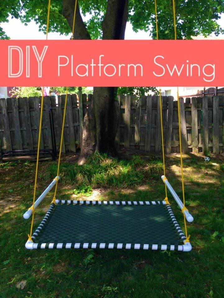 Easy DIY Platform Swing