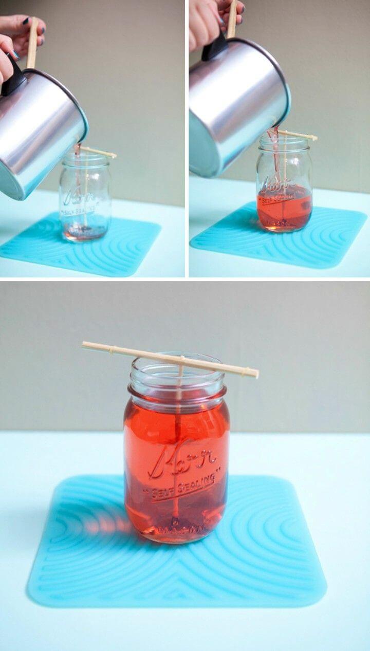 Easy DIY Poured Mason Jar Candle