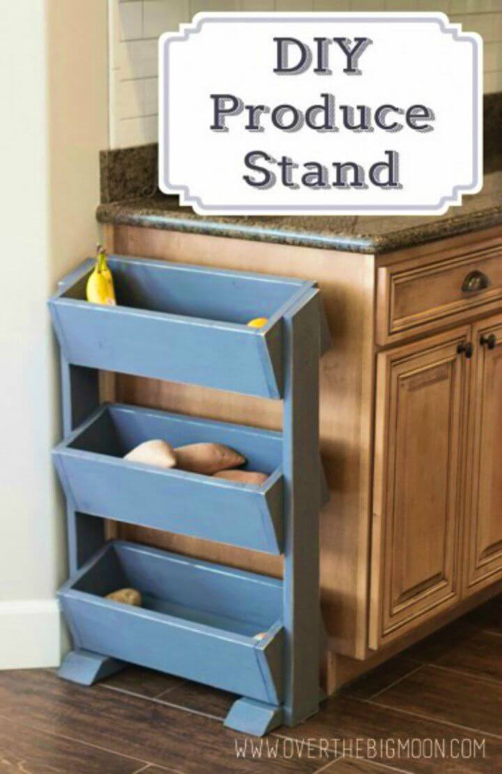 Easy DIY Produce Stand for Under