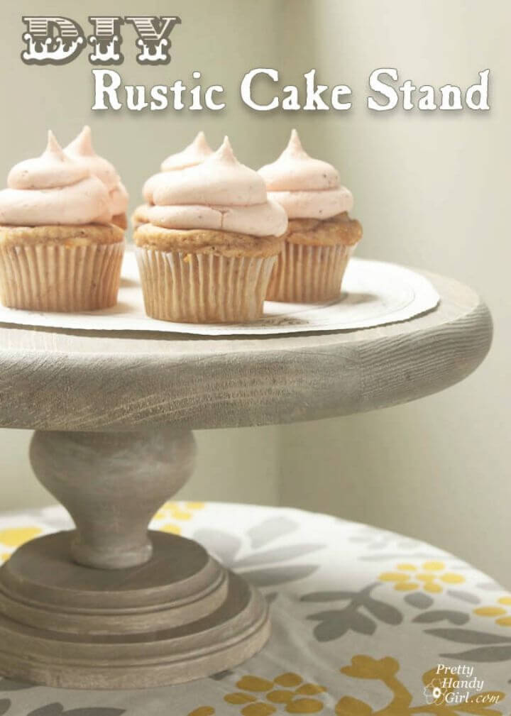 Easy DIY Rustic Cake Stand