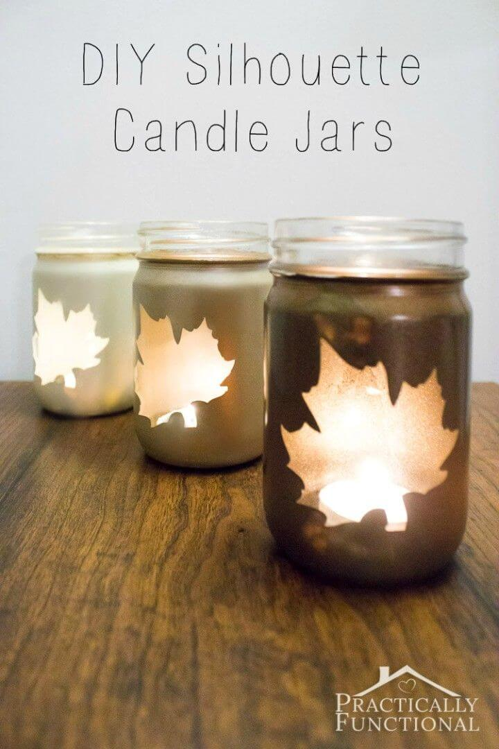Easy DIY Silhouette Candle Jars