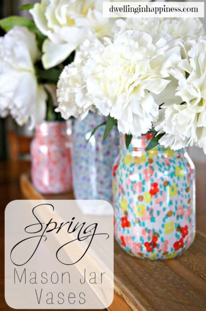 Easy DIY Spring Mason Jar Vases