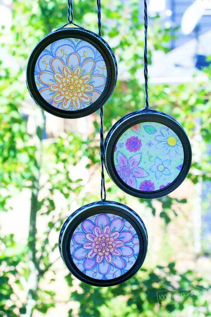 Easy DIY Sun Catchers with Coloring Pages