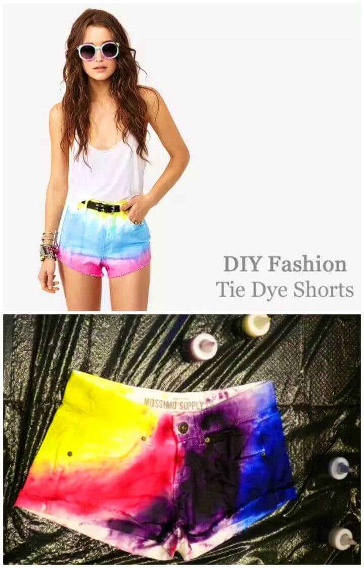 Easy DIY Tie Dye Shorts