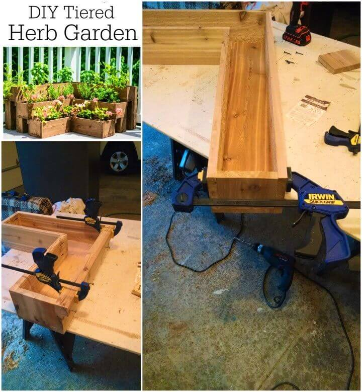 Easy DIY Tiered Herb Garden Tutorial