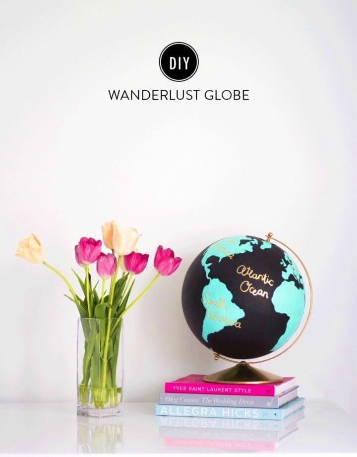 Easy DIY Wanderlust Globe