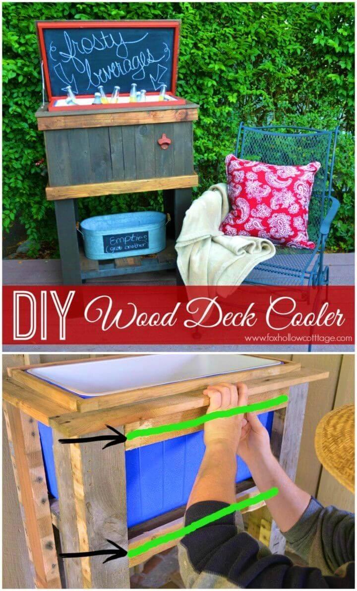 Easy DIY Wood Deck Cooler Backyard Project