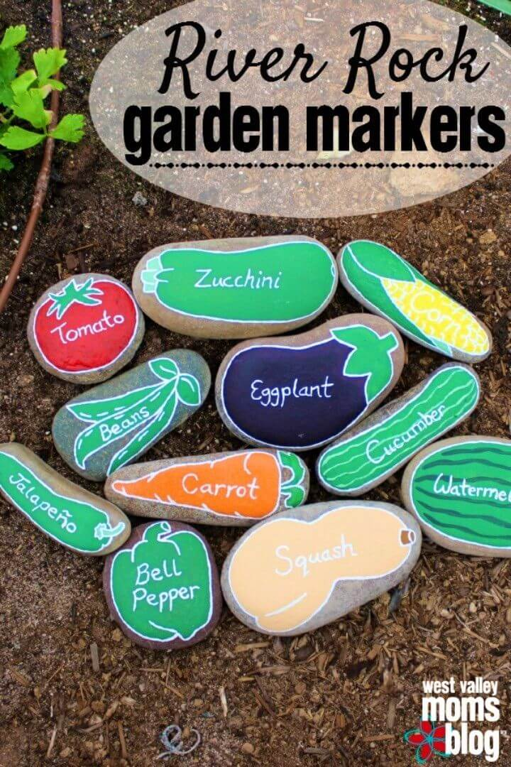 Easy and Simple DIY River Rock Garden Markers