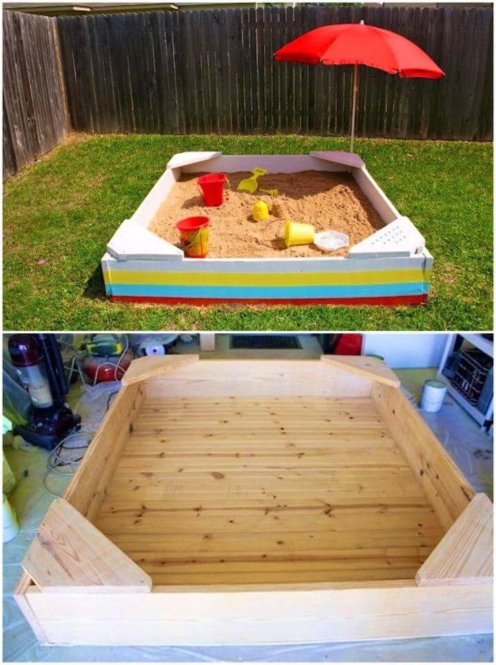 Easy to Build Sandbox Kid Backyard Project