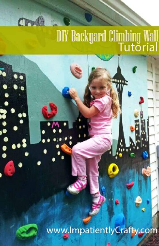 Easy to Make Backyard Climbing Wall