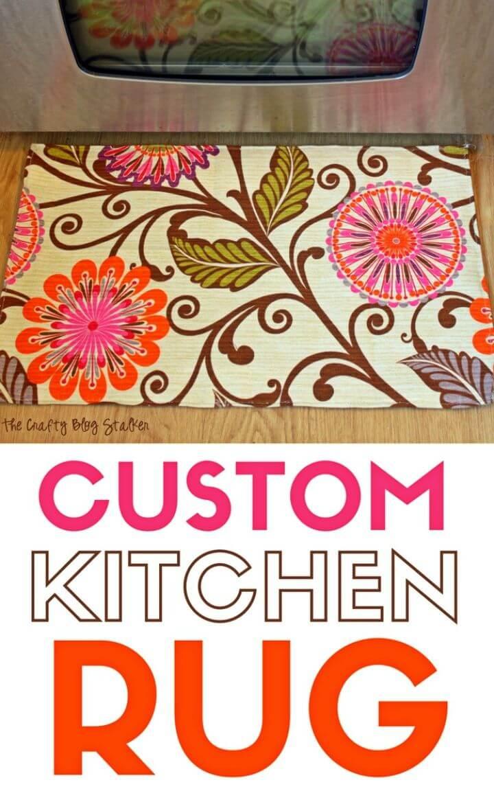 Easy to Make Custom Kitchen Rug