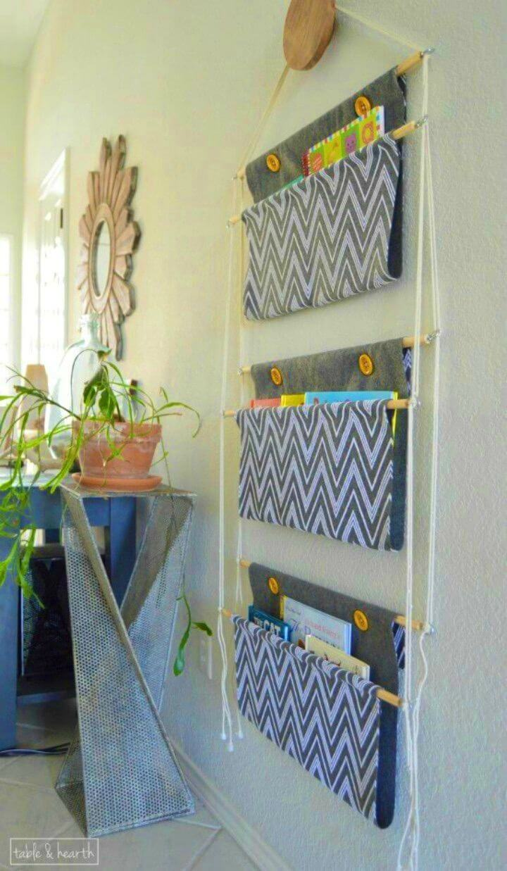 Easy to Make Hanging Book Storage
