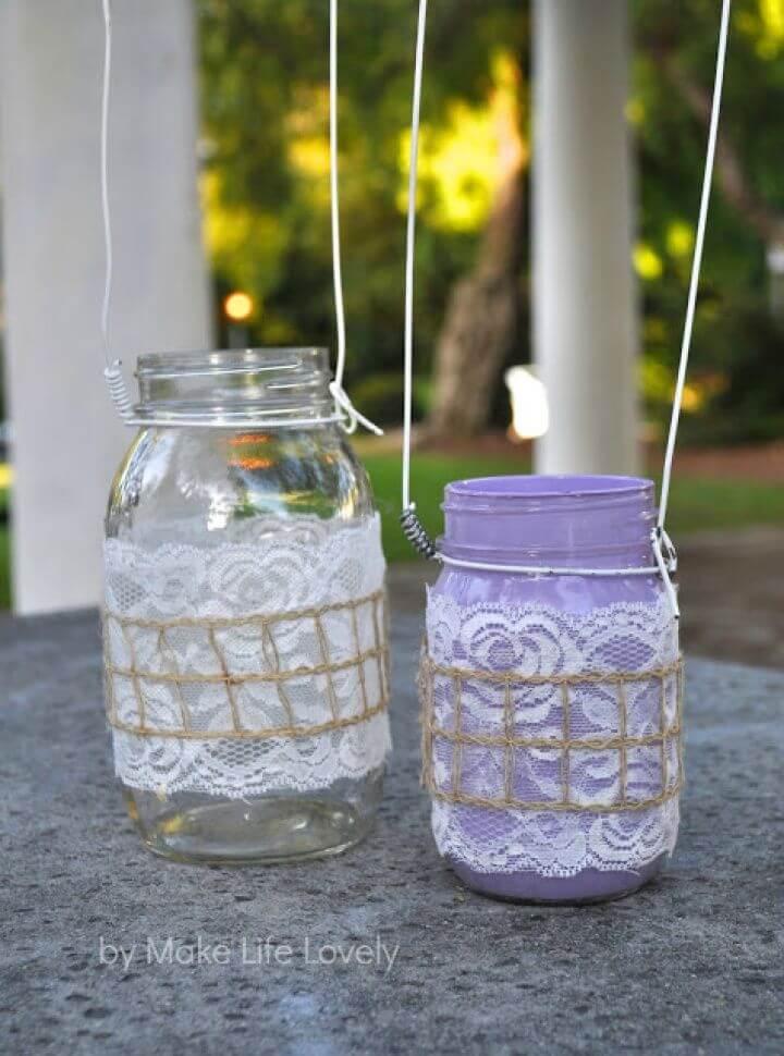 Easy to Make Mason Jar Lanterns