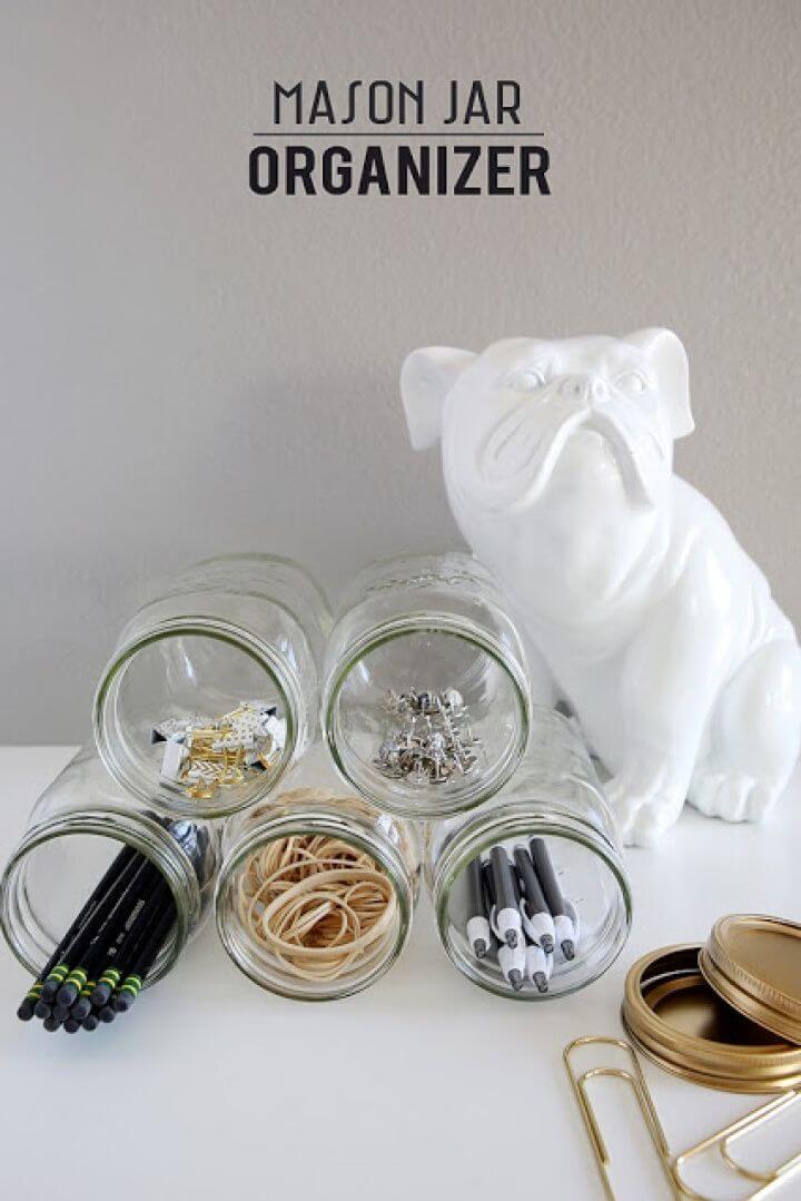 Easy to Make Mason Jar Organizer