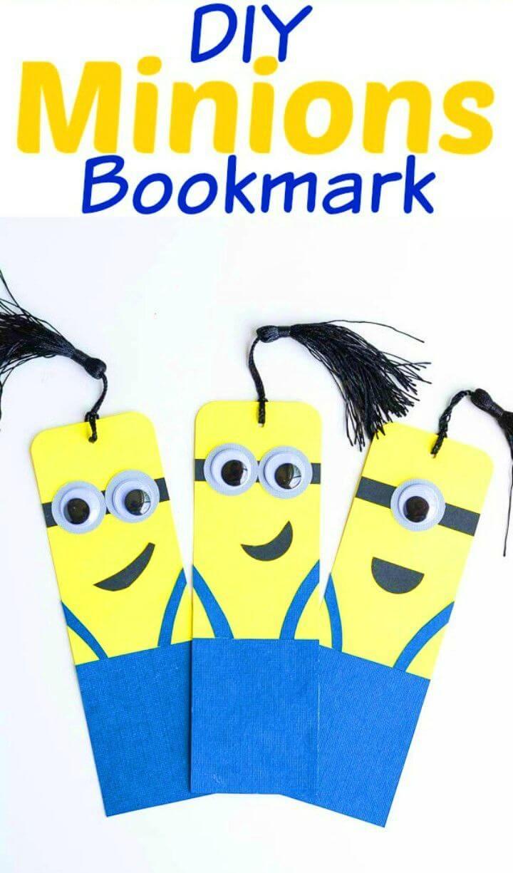 Easy to Make Minion Bookmarks
