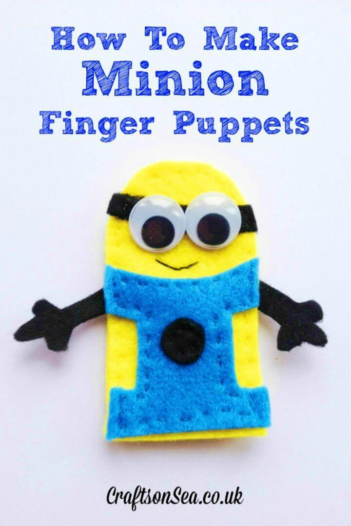 Easy to Make Minion Finger Puppets
