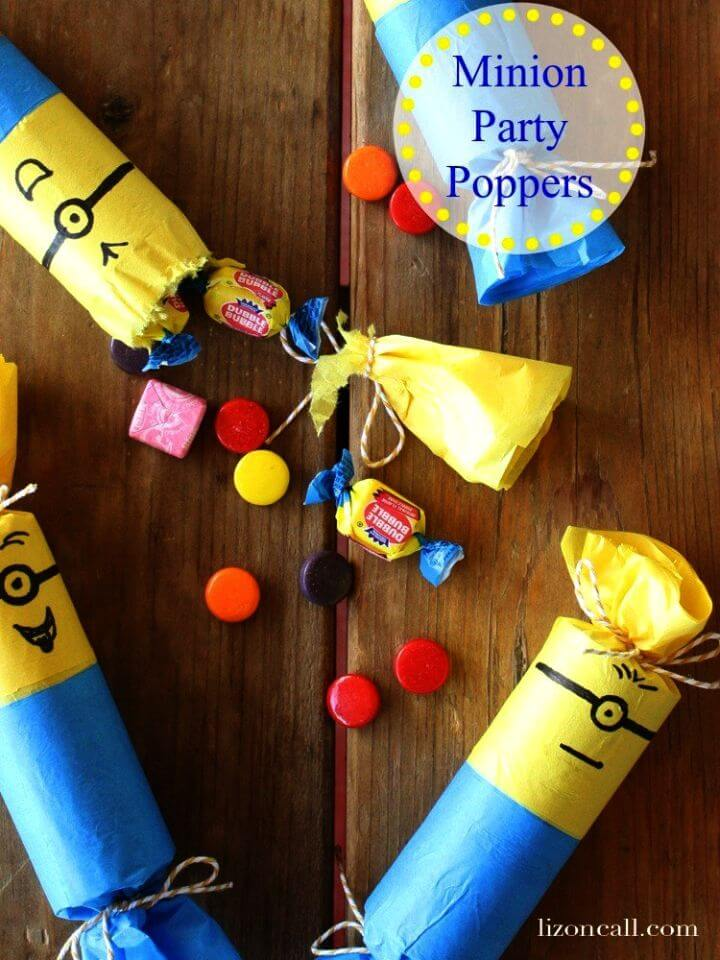 Easy to Make Minion Party Poppers