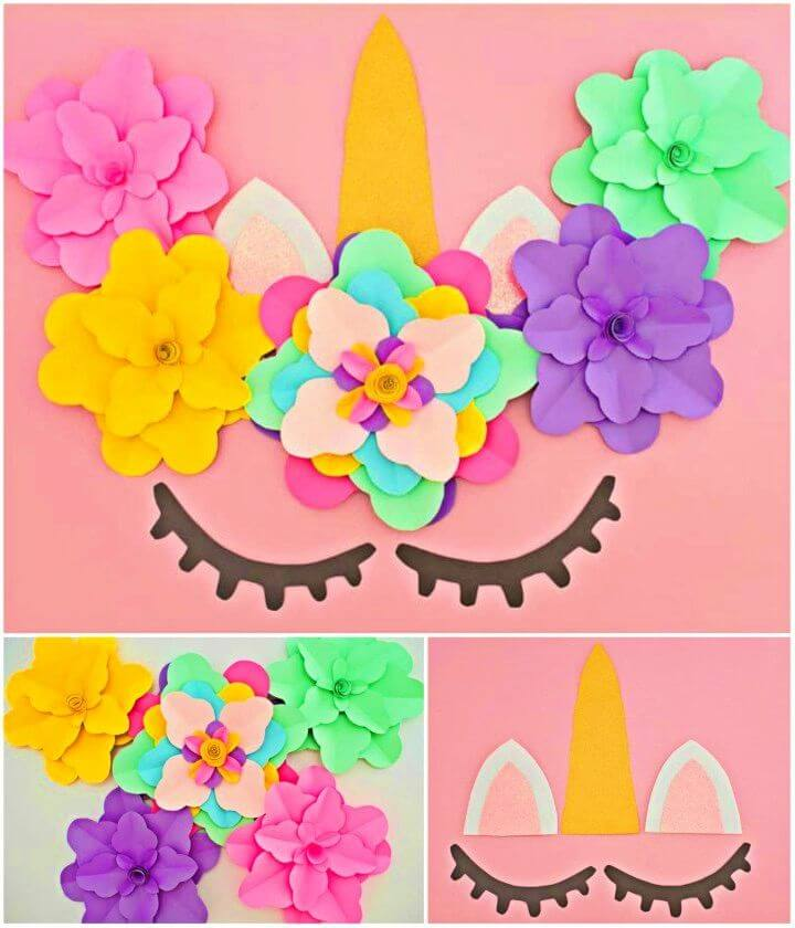Easy to Make Unicorn Flower Backdrop