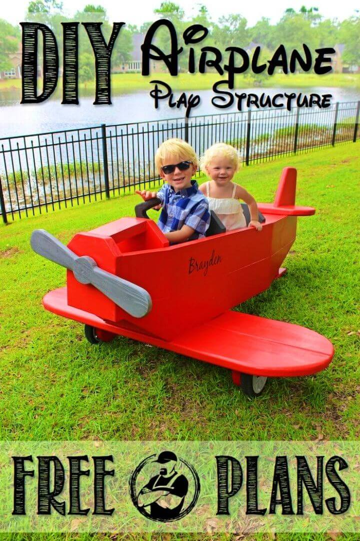 Gorgeous DIY Airplane Play Structure