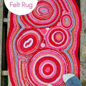 Gorgeous DIY Felt Rug