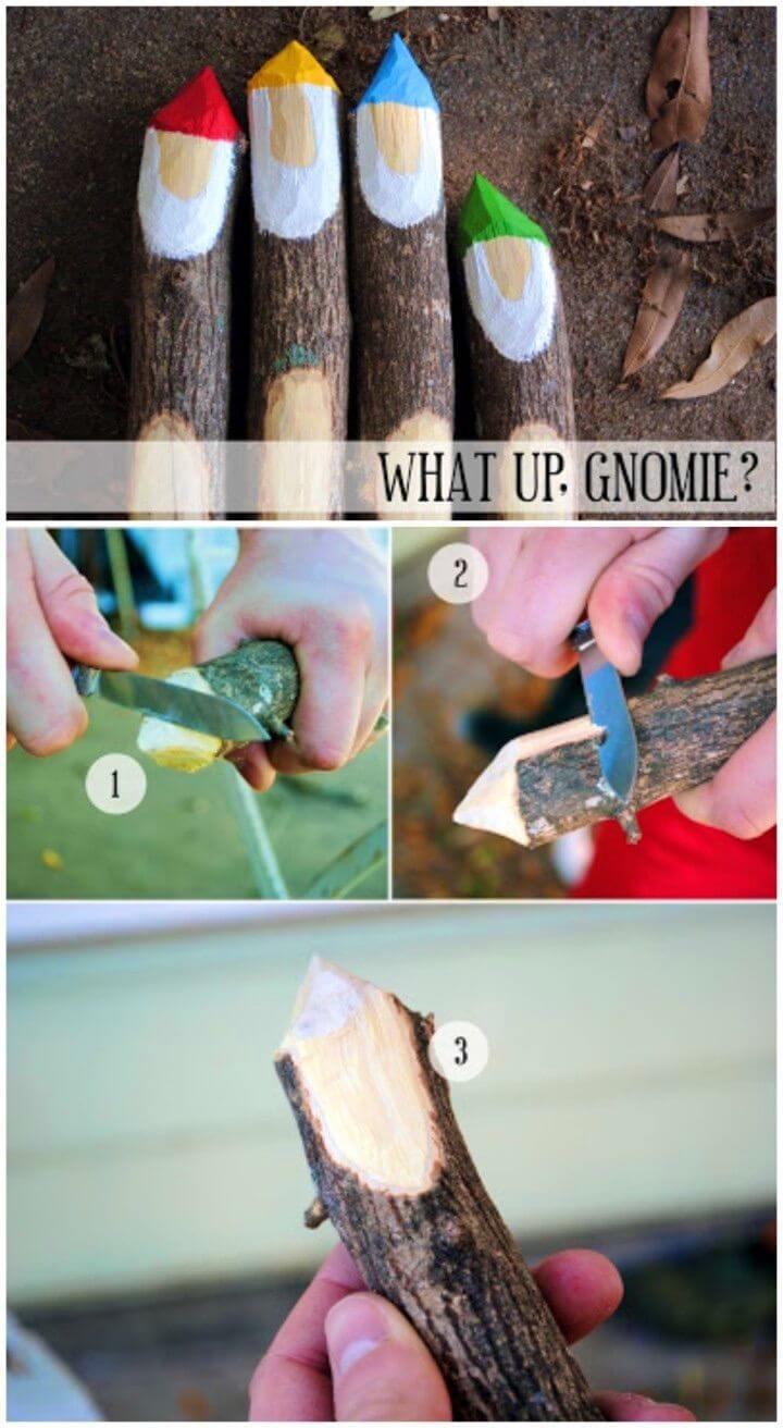 Gorgeous DIY Gnome Garden Markers