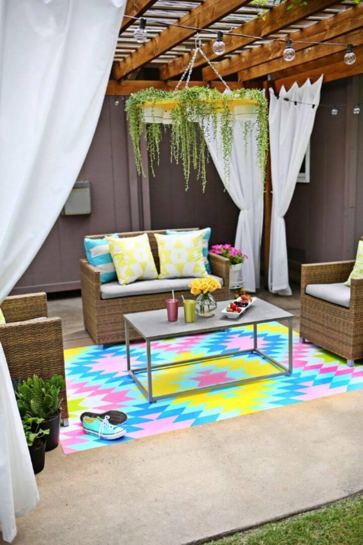 Gorgeous DIY Outdoor Rug