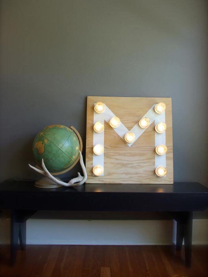 Heart Melting DIY Mason Jar Monogram Light