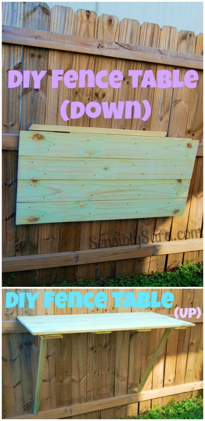 How To Build Fence Table in Your Backyard