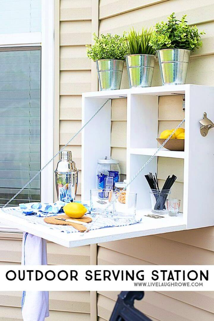 How To Build Outdoor Serving Station