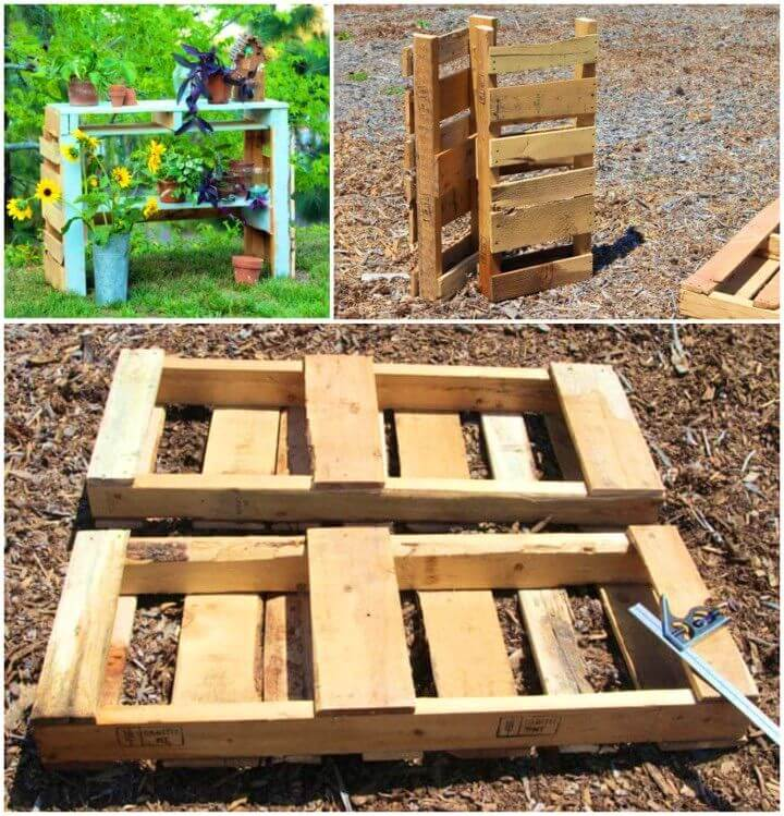 How To Build Two Pallet Potting Bench