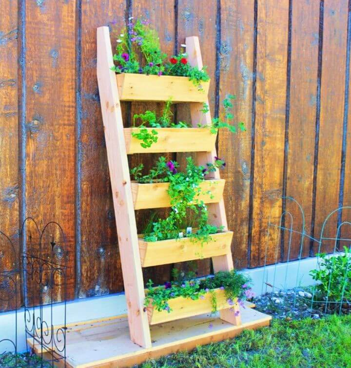 How To Build Your Own Ladder Garden Planter