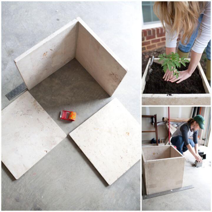 How To DIY Stone Planter