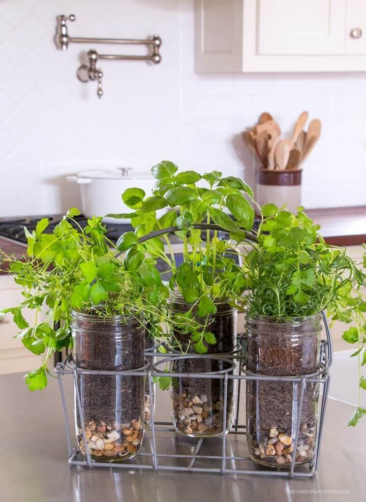How To Make Indoor Mason Jar Herb Garden