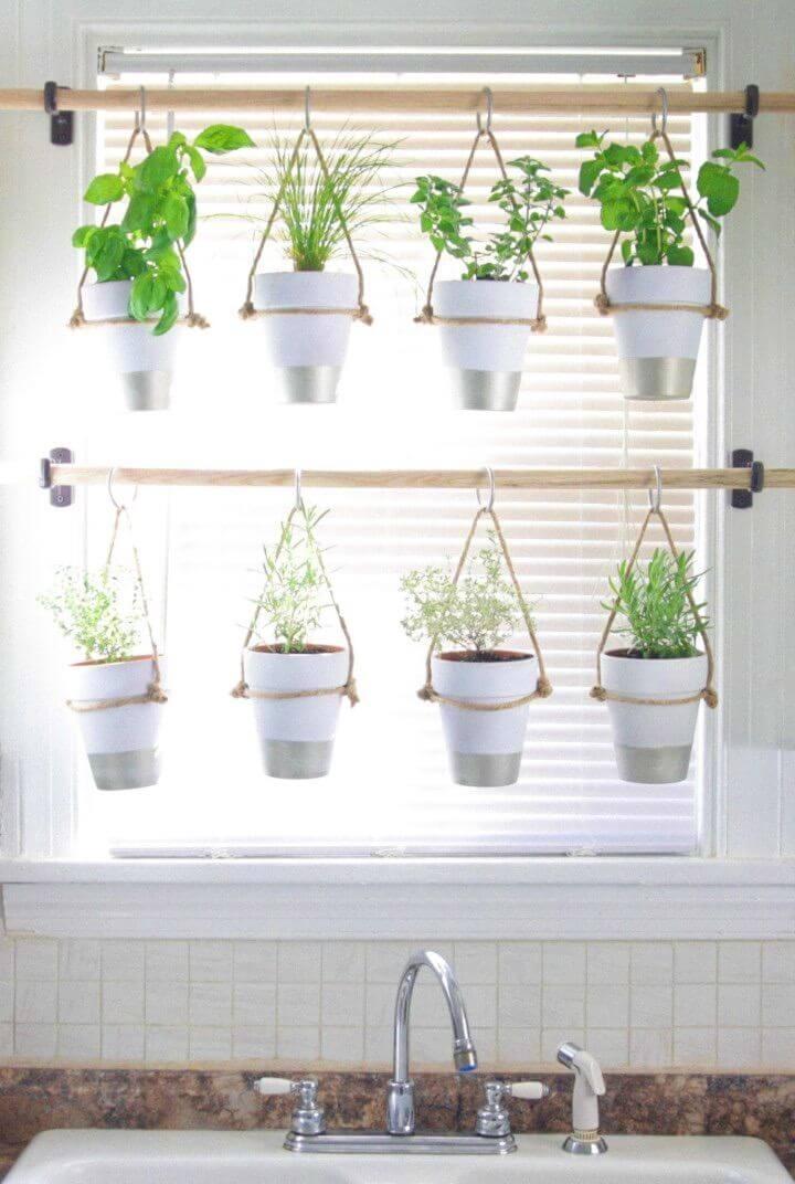 How To Make an Indoor Hanging Herb Garden