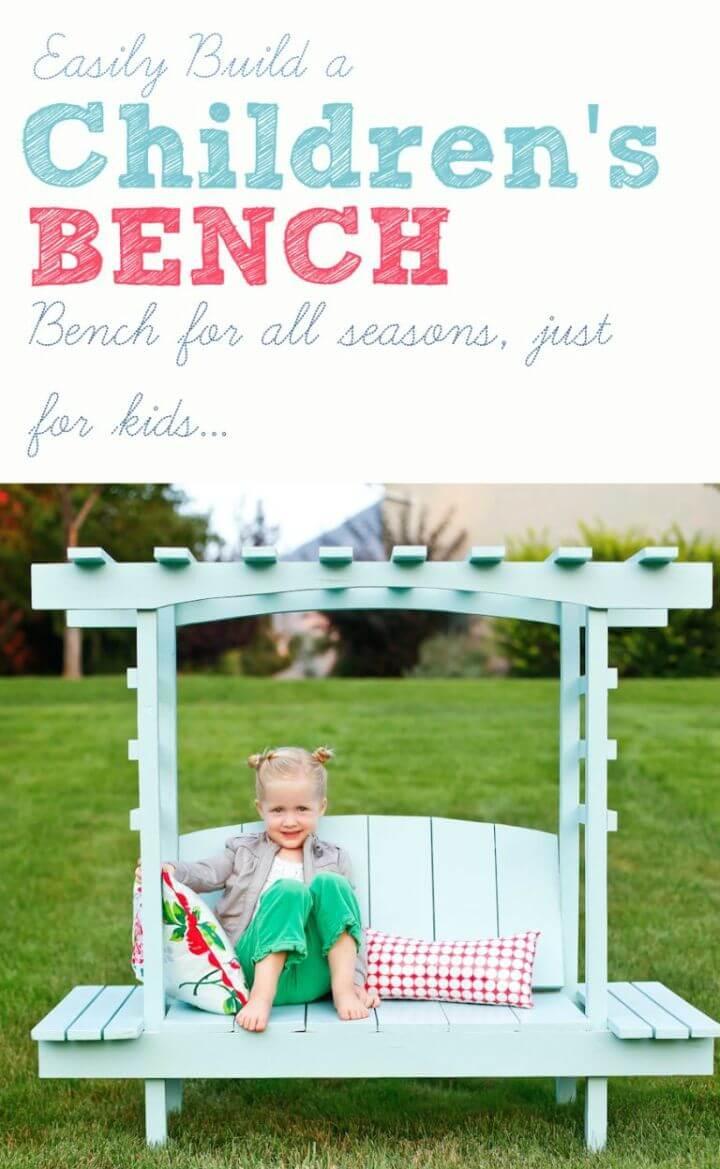 How to Build Children's Arbor Bench