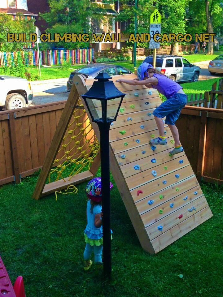 How to Build Climbing Wall and Cargo Net