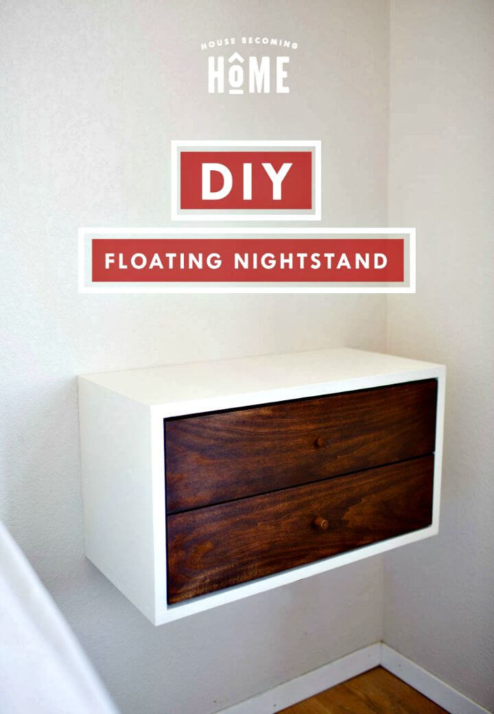 How to Build Floating Nightstand