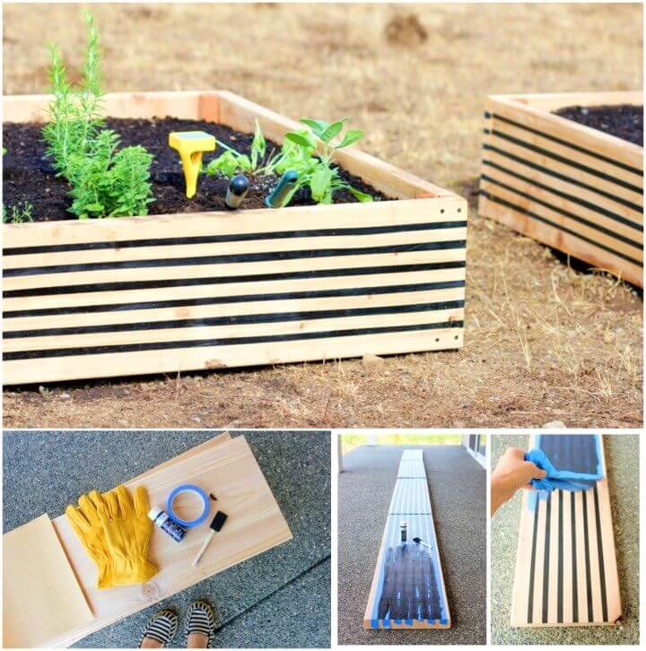 How to Build Striped Raised Garden Beds
