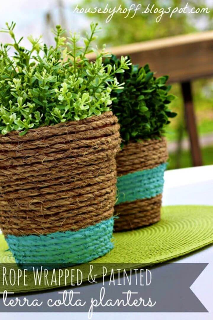 How to Create Rope Wrapped Pots
