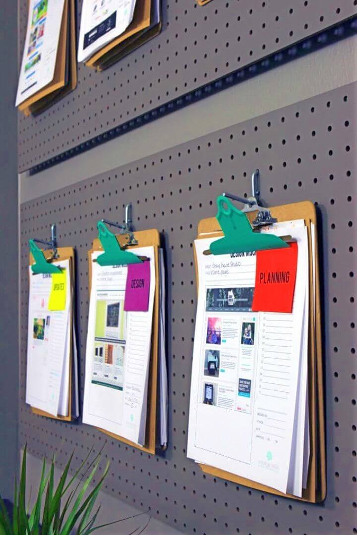 How to Create an Office Pegboard Organization System