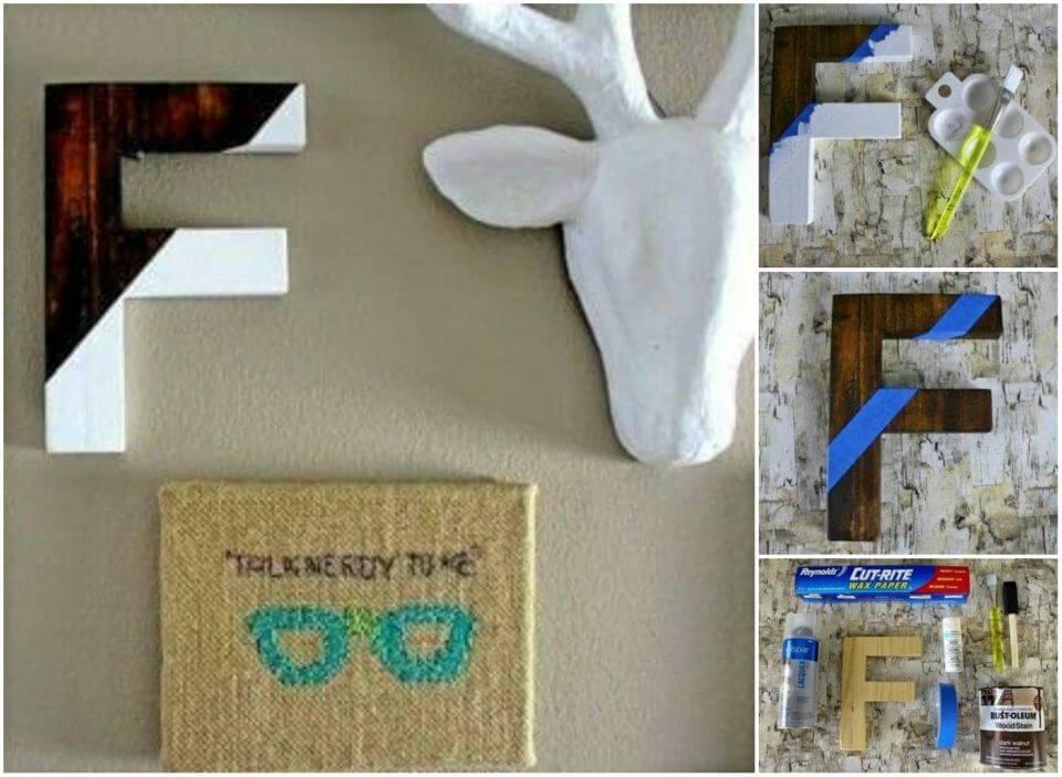 How to DIY Color Block Letter, DIY, easy DIY, quick DIY, cheap DIY projects, DIY color blocks, color blocks, DIY color block art, color block technique, DIY letter, DIY color block letter.