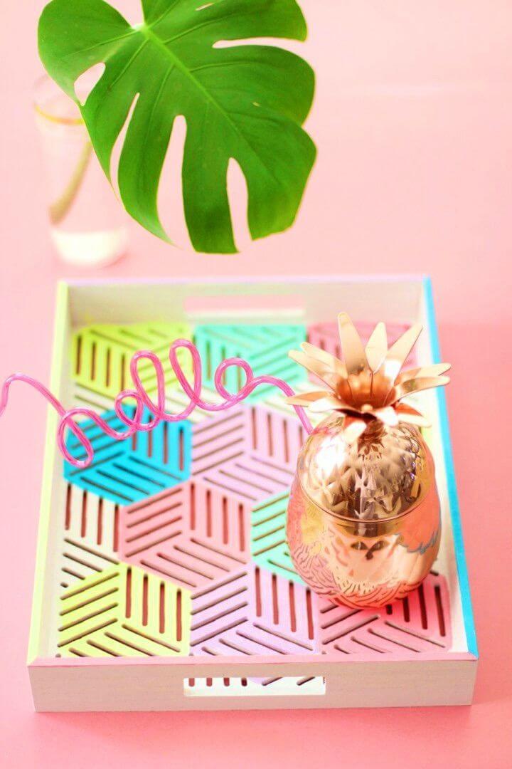 How to DIY Color Block Serving Tray, DIY, easy DIY, quick DIY, cheap DIY projects, DIY color blocks, color blocks, DIY color block tray, DIY color block serving tray, DIY serving tray.
