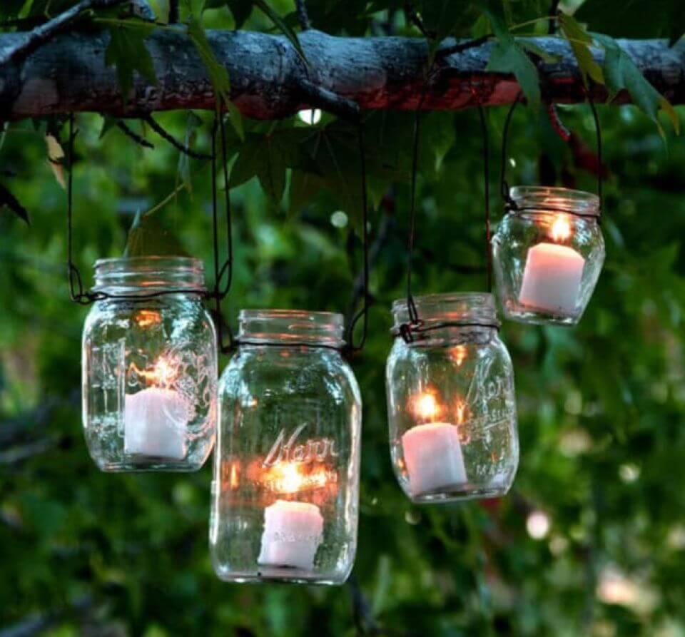 How to DIY Magical Hanging Mason Jar Lights
