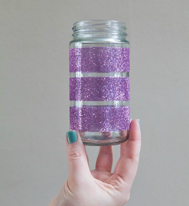 How to DIY Martha Stewart Glittered Glass Jars