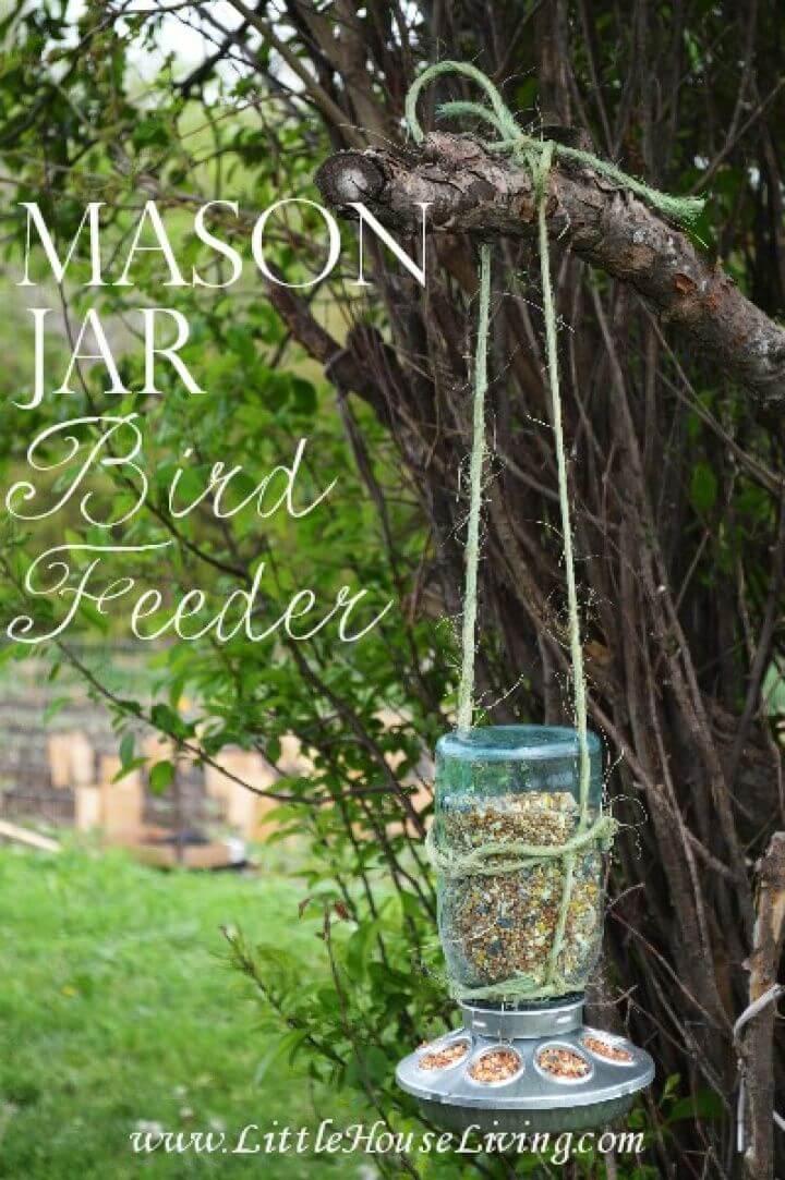 How to DIY Mason Jar Bird Feeder