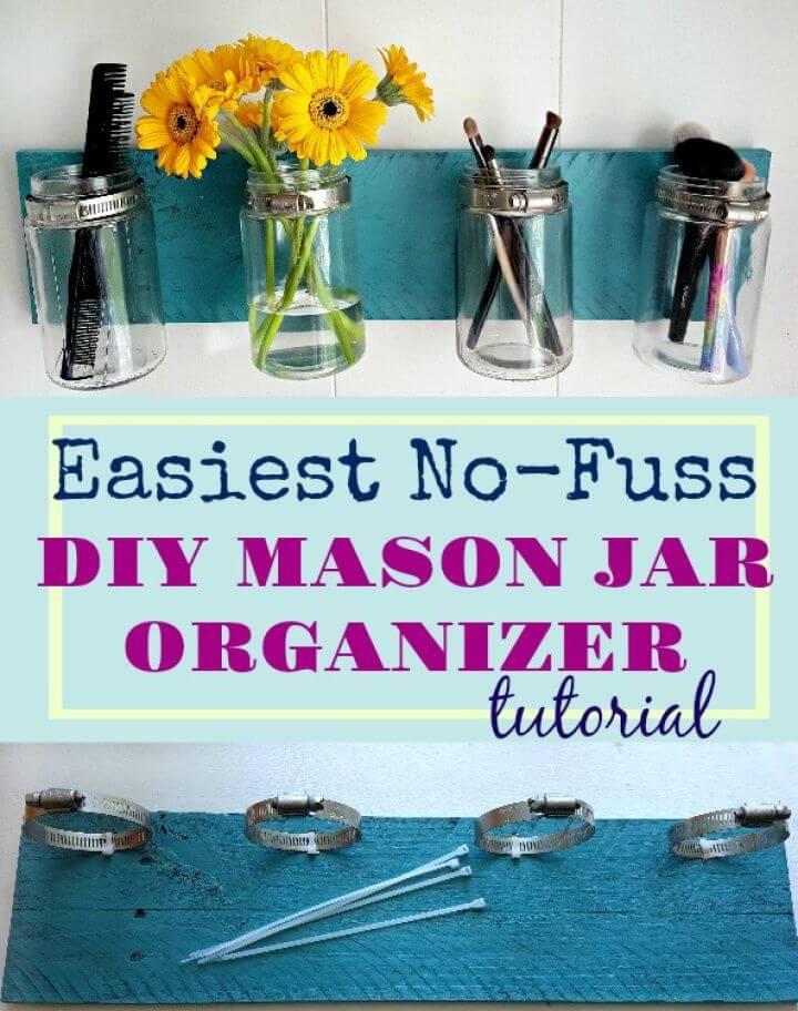 How to DIY Mason Jar Organizer