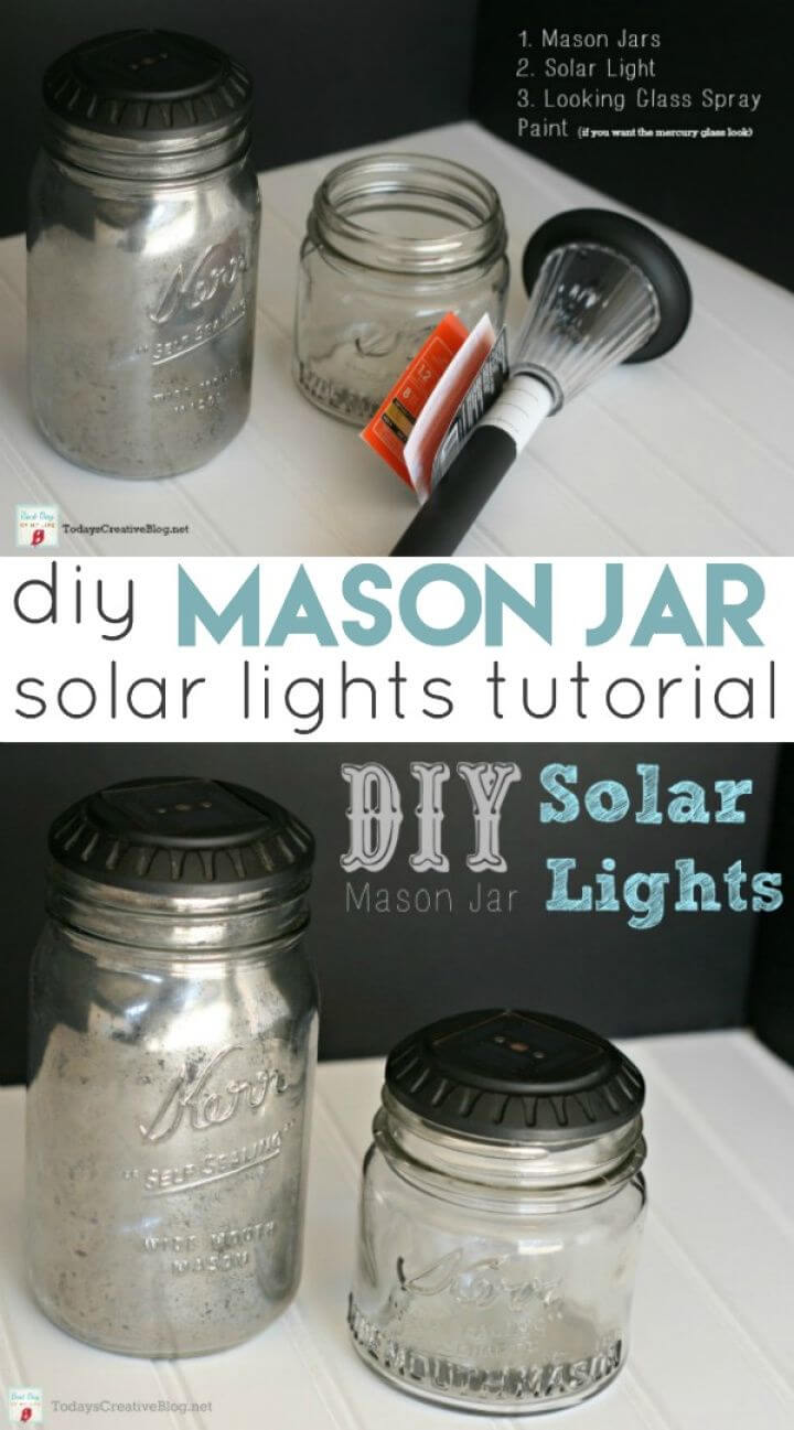 How to DIY Mason Jar Solar Lights