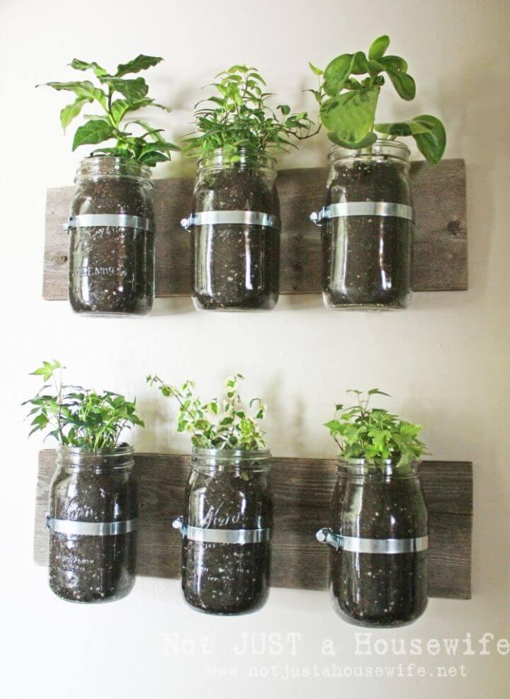 How to DIY Mason Jar Wall Planter