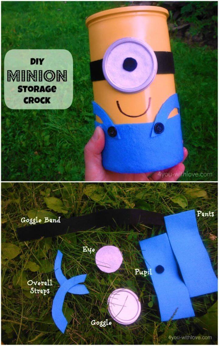 How to DIY Minion Storage Crock