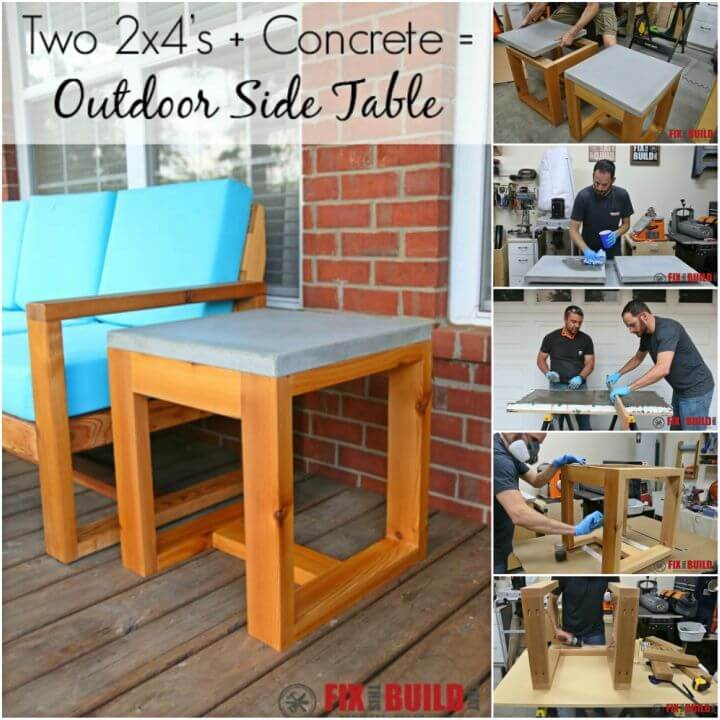 How to DIY Outdoor Side Table